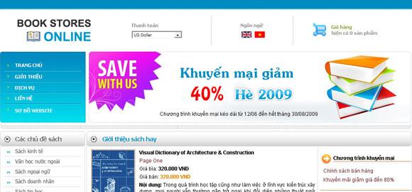 Web bán sách trực tuyến