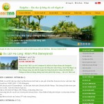 thiết kế website du lịch luckytour trang chi tiết