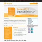 Thiết kế website phần mềm kế toán accura trang chủ