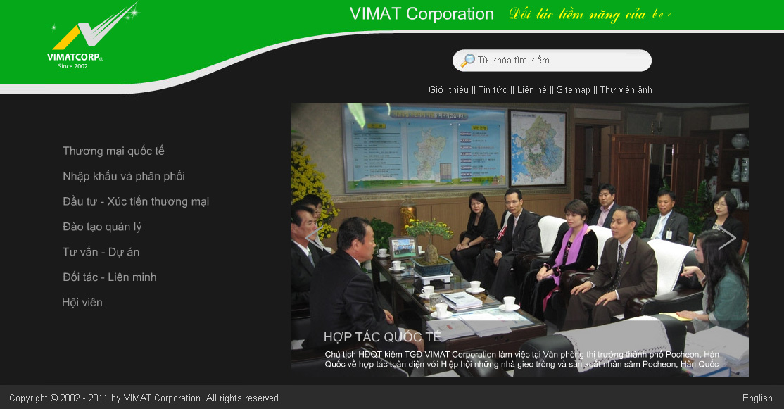 Website flash Công ty Vimat Corp