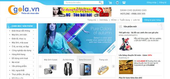 Web thương mại điện tử Gola.vn