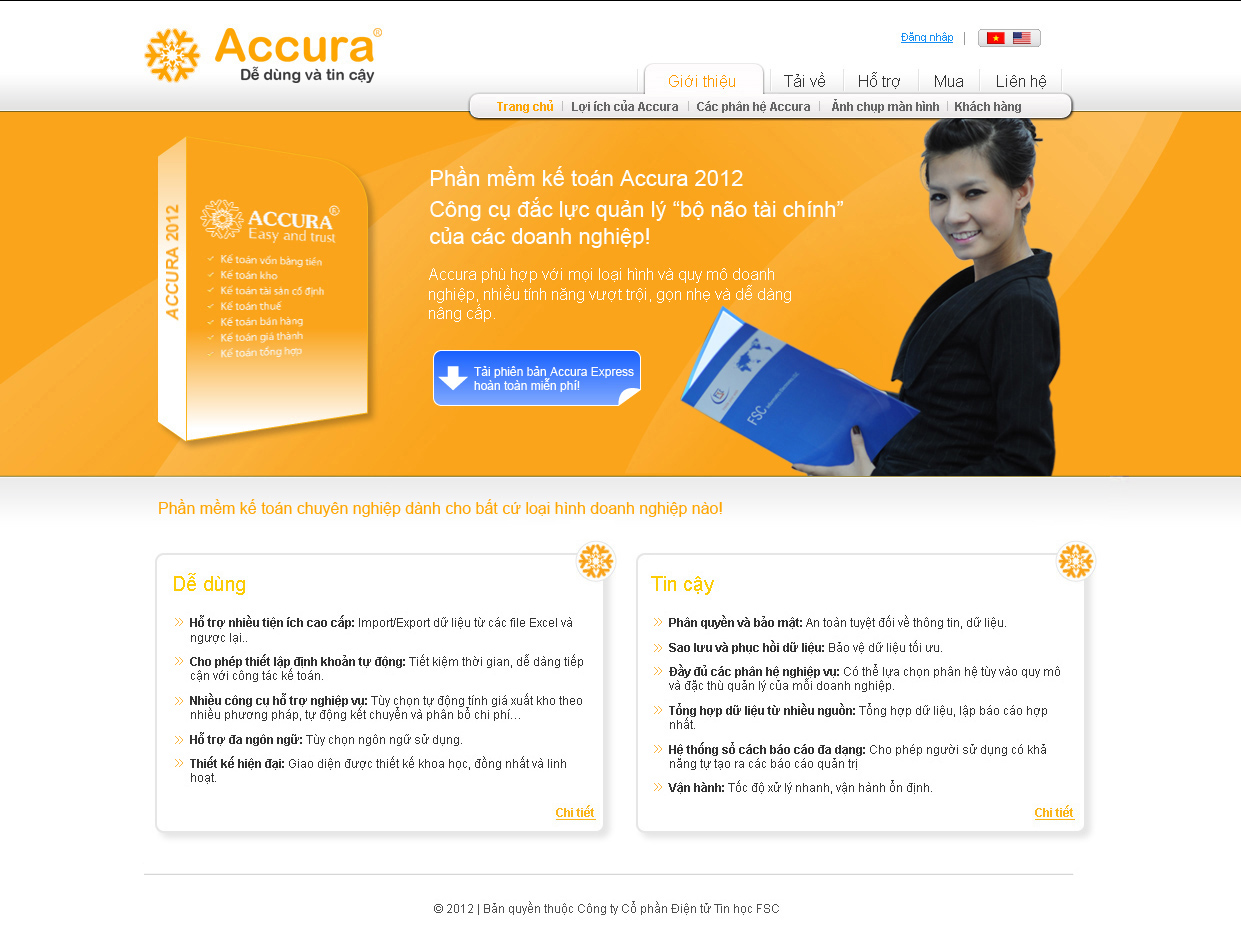 Phần mềm kế toán Accura