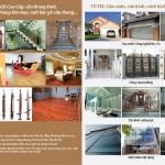 Tờ gấp Sàn gỗ tự nhiên, công nghiệp, cửa kính, cửa cuốn, cửa nhôm, nhựa, cầu thang cuốn