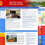 Thiết kế cổng thông tin điện tử Hải Dương - banner màu đỏ