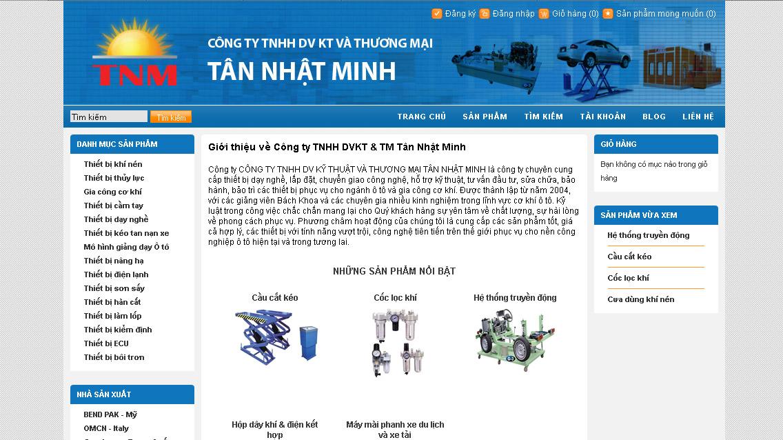 Thiết kế web thiết bị dạy nghề, sửa chữa, bảo dưỡng ô tô