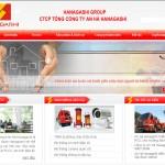 Thiết kế website phòng cháy chữa cháy, an ninh điện tử, camera quan sát công ty An Hà Hanagashi - Giao diện 2