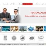 Thiết kế website phòng cháy chữa cháy, an ninh điện tử, camera quan sát công ty An Hà Hanagashi - Giao diện 1