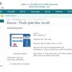 Thiết kế website Công ty CP Dược phẩm Quan Sơn - Trang chi tiết