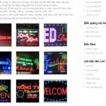 Thiết kế website biển quảng cáo đèn led, biển mica, linh kiện led