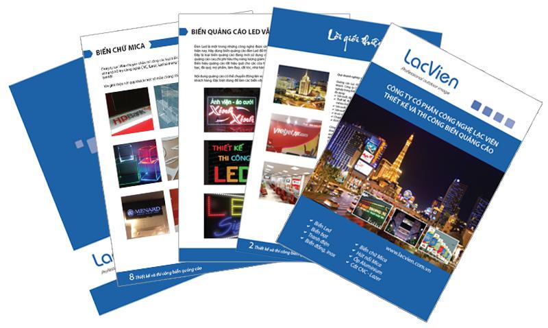 catalog biển quảng cáo led, biển bạt, tranh điện, biển mika