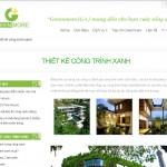 Trang trong thiết kế website cảnh quan sân vườn, cây cảnh, công trình xanh