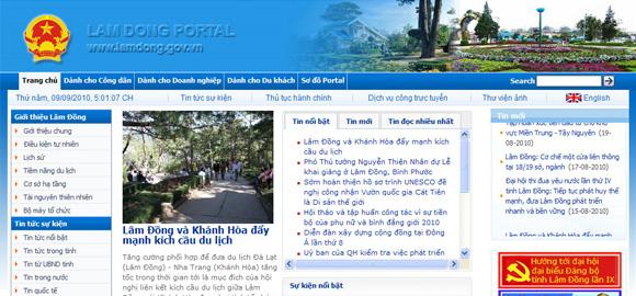 Cổng thông tin Điện tử Lâm Đồng