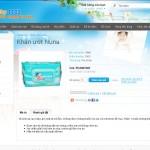 thiết kế web shop bán hàng trẻ em trang chi tiết