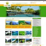 thiết kế website du lịch luckytour trang chủ