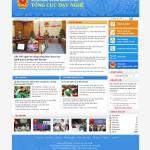 Thiết kế website tổng cục dạy nghề