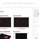 Trang trong Thiết kế website bếp từ, chậu rửa bát, sen vòi Kucy
